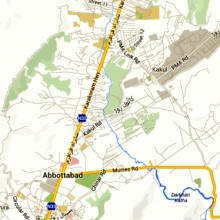 Abbottabad Map courtesy Google Maps