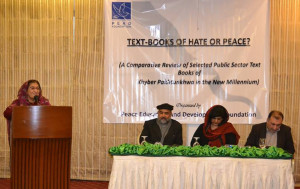 Peshawar: Launching of Textbooks of Hate or Peace? on 11 Feb 2016